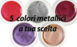 5 COLOR METALLICI (5 ml)